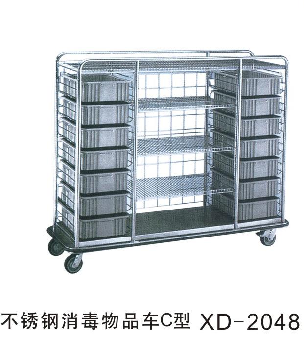 不锈钢消毒物品车C型XD-2048